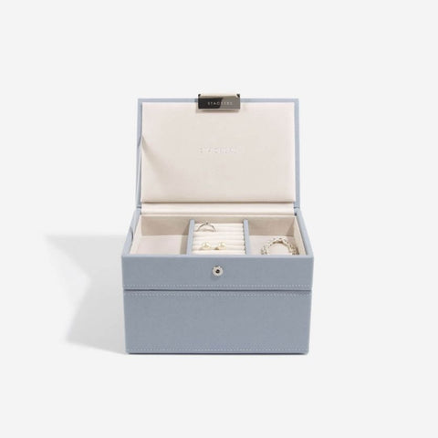 Stackers Dusky Blue Mini Jewellery Box - Set of 2