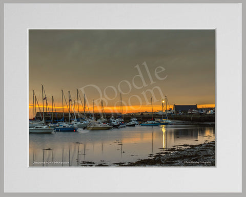 PRM Mounted Photo Print-Groomsport Harbour, NI