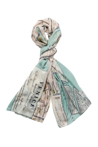 One Hundred Stars Map Scarf-Venice