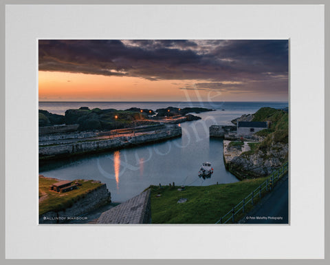 PRM Mounted Photo Print-Ballintoy Harbour, NI