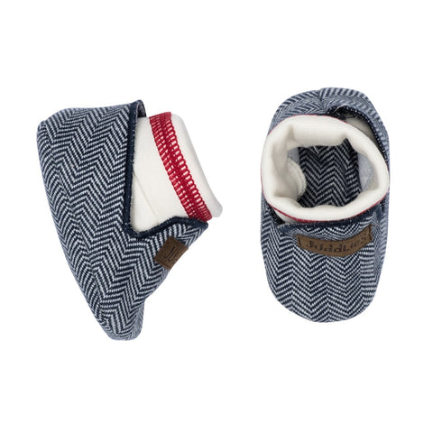 KC Organic Cottage Baby Slippers - Lake Blue - 0-4M