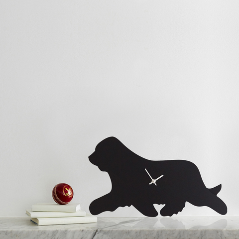 LC Bearded Collie Clock