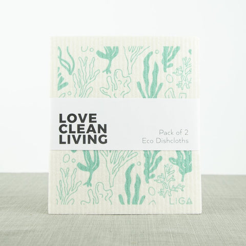 Liga Eco Dishcloths-Lobster & Seaweed