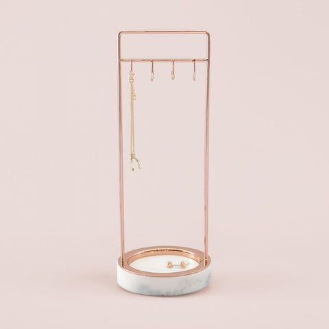 Stackers Large Marble 8 Hook Jewellery Stand