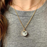 Decadorn Pendant Necklace-Full Circle-Kiwi Jasper Gold