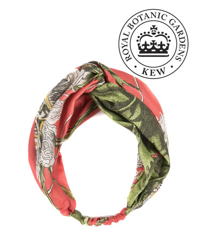 One Hundred Stars & Kew RBG Headband-Passion Flower Coral