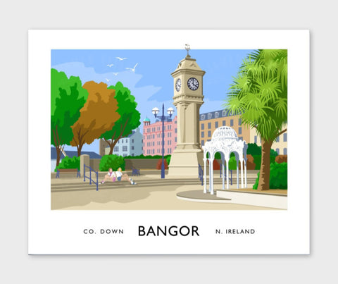 James Kelly Print-Bangor McKee Clock