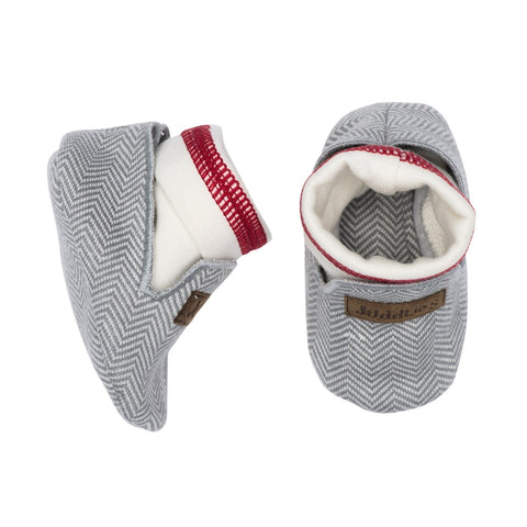 KC Organic Cottage Baby Slippers - Driftwood Grey - 0-4M