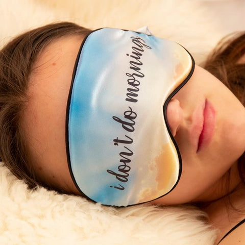 Kikkerland I Don't Do Mornings Ultra Soft Sleep Mask