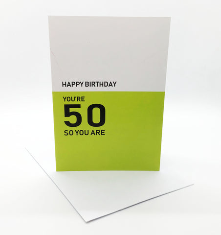 Belfast Times 50 So You Are Card