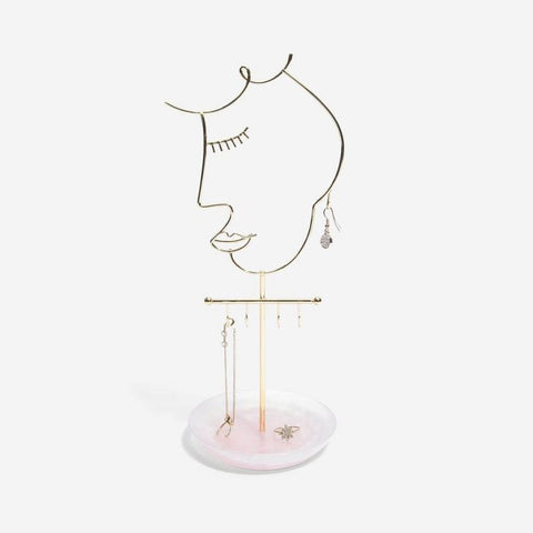 Stackers Rose Quartz 5-Hook Face Jewellery Stand