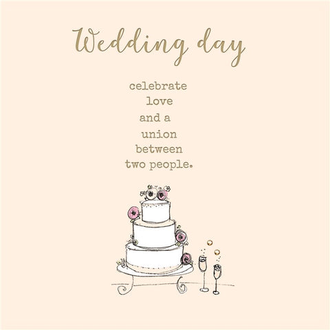 Laura Sherratt Wedding Day Card