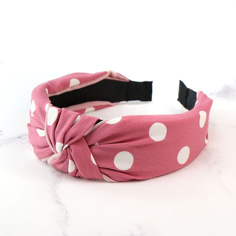 PM Pink and White Dotty Headband