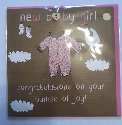 Laura Sherratt Baby Girl Card