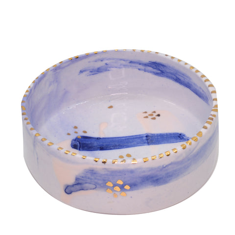Rebecca Killen Trinket Dish Blue-Dots