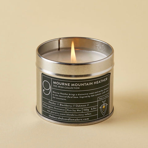 The Bearded Candlemakers-Mourne Mountain Heather Soy Candle