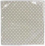 GG Pack 20 Paper Napkins-Sage Green/White Dots