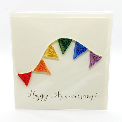 Luminosity Happy Anniversary Bunting Card