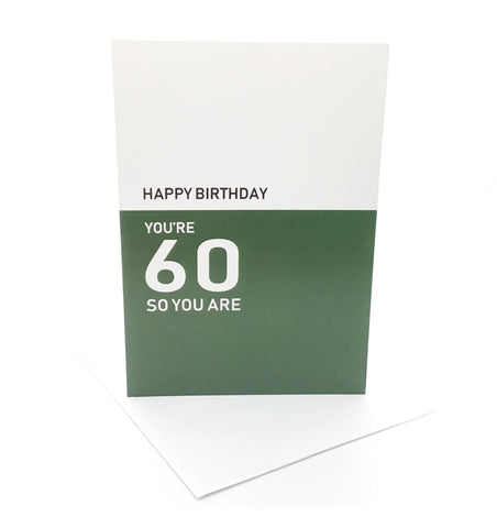 Belfast Times 60 So You Are Card