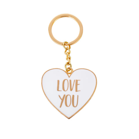 S&B Enamel Keyring-Love You