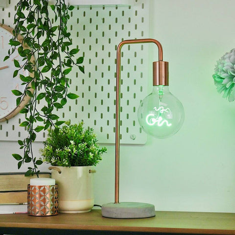 STP GIN LED filament Text Light Bulb-GREEN