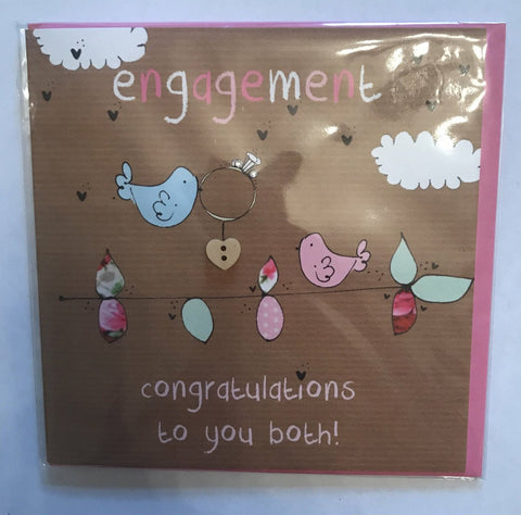 Laura Sherratt Engagement Birds Card