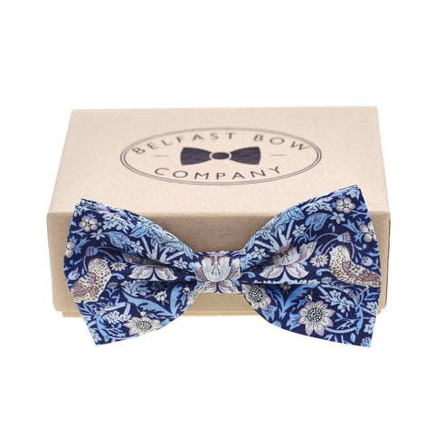 Belfast Bow Co Handmade Liberty Of London Bow Tie-Blue