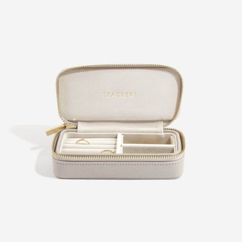 Stackers Medium Travel Jewellery Box-Taupe