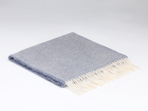 McNutt Lambswool Scarf - Smoke Grey Herringbone