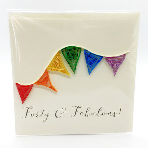 Luminosity Forty & Fabulous Card