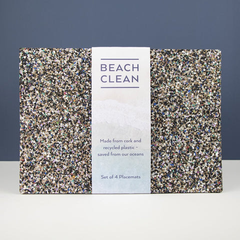 Liga Cork Placemats & Coasters-Beach Clean