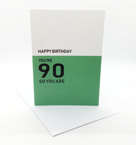 Belfast Times 90 So You Are Card