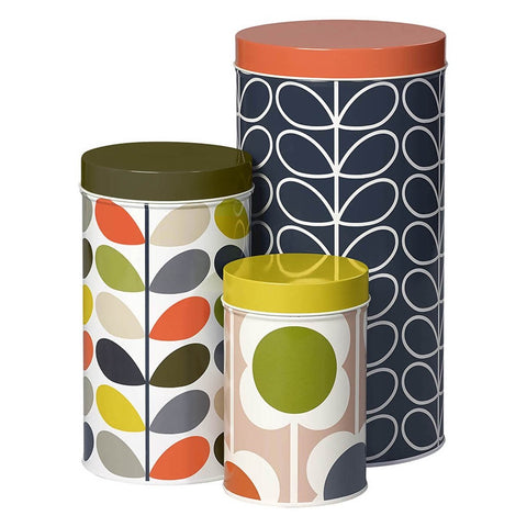 Orla Kiely Assorted Stem Storage Tins-Set of 3