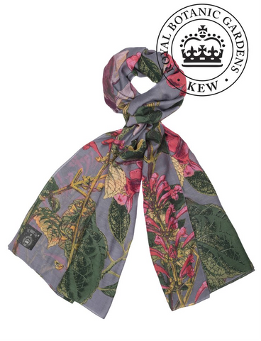 One Hundred Stars Kew Scarf-Magnolia Grey