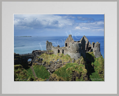 PRM Mounted Photo Print-Dunluce Castle, NI