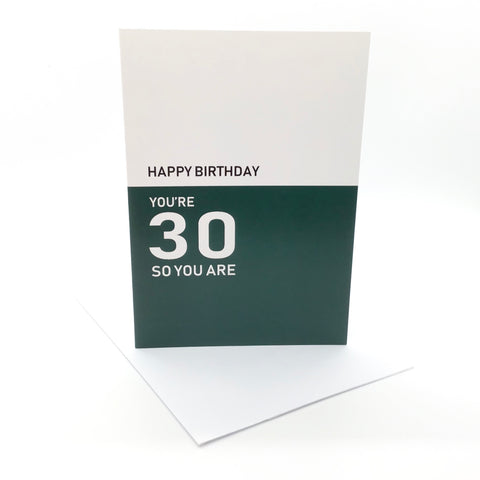 Belfast Times 30 So You Are Card