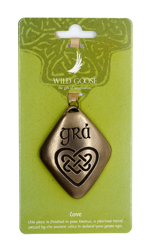 WGS Bronze Hanging Decoration Grá