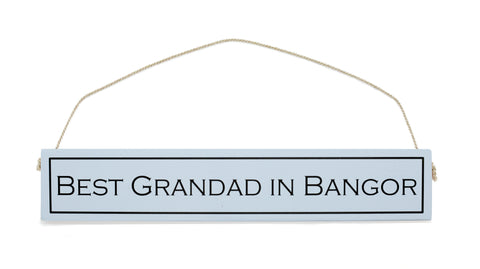 WTH Handmade Hanging Plaques for Grandad