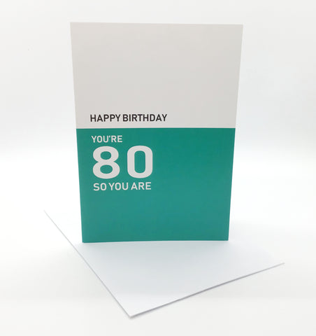 Belfast Times 80 So You Are Card