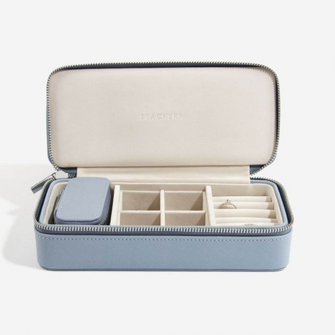 Stackers Large Jewellery Travel Box-Blue