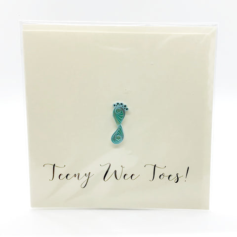 Luminosity Teeny Wee Toes Card (Blu)