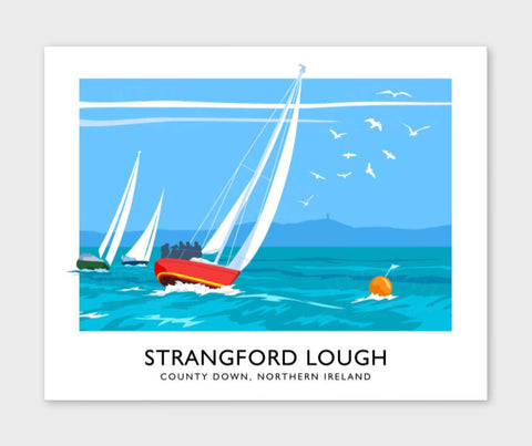 James Kelly Print-Yachts On Strangford Lough