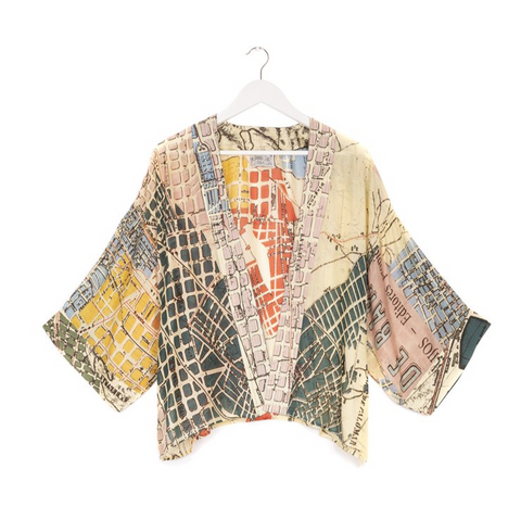 One Hundred Stars Maps Kimono-Barcelona