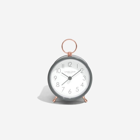 London Clock Hoop Alarm Clock Cool Grey