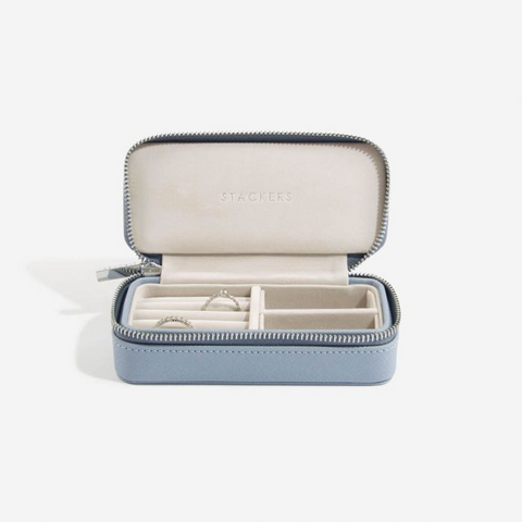 Stackers Medium Travel Jewellery Box-Blue