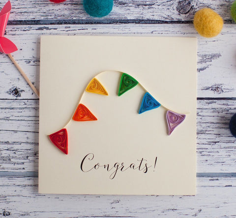 Luminosity Congrats Bunting Card