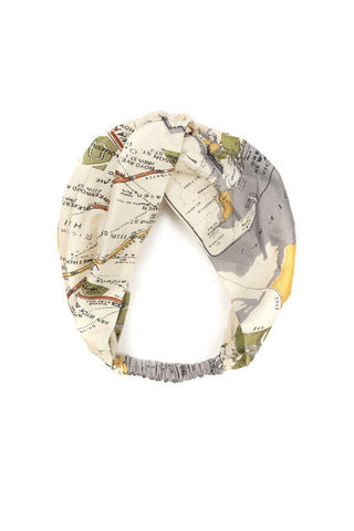 One Hundred Stars Headband-New York Map