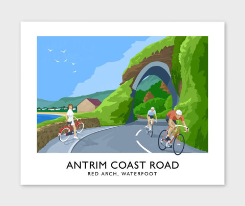 James Kelly Print-Antrim Coast Road Red Arch