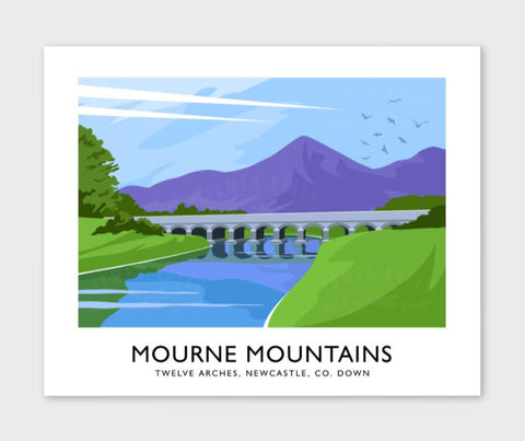 James Kelly Print-Mourne Mountains Twelve Arches