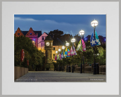 PRM Mounted Photo Print-The Bright Lights Of Bangor